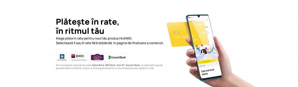 HUAWEI WATCH 3 Pro, HUAWEI WATCH 3 și laptop-uri de top cu plata în rate fără dobândă pe Huaweistore.ro